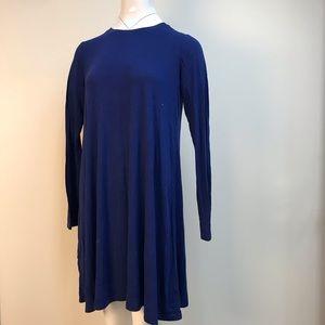 vintage BCBG Max Azria royal blue cotton dress